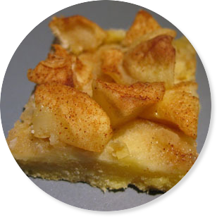 Recept na desiatový jablkovy flapjack s medom.