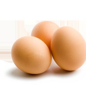 Vajcia obsahujú veľké množstvo bielkovín.