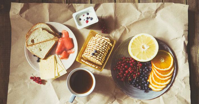 Jedálniček pri cukrovke a diéte zostavený zo zdravých potravín.