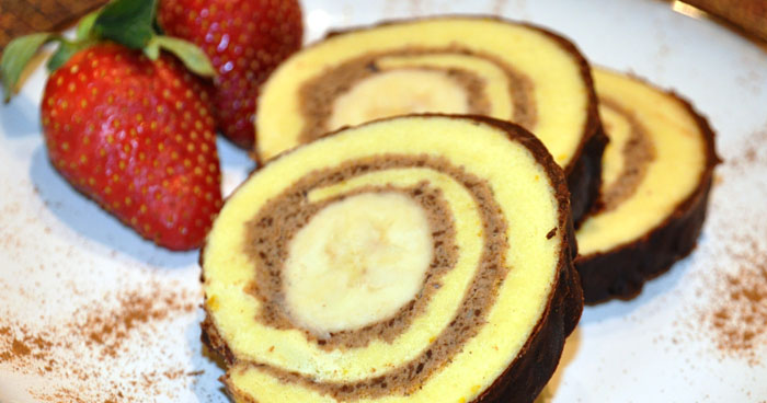 SIlvestrovská banánová roláda pre každú návštevu.