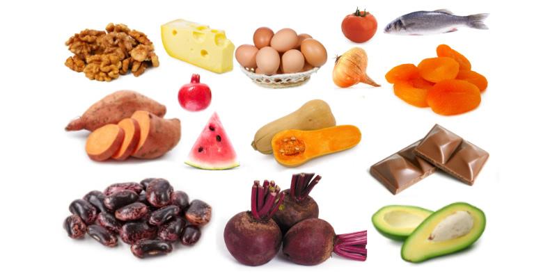 Potraviny s vysokým obsahom draslíka.