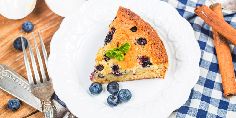 Špaldové koláče - čučoriedky