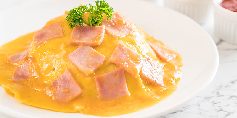 Šunková omeleta na večeru