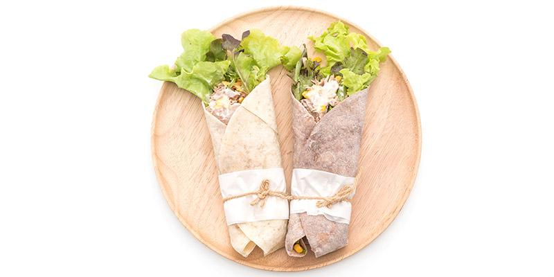 Wrap s humusom a syrom